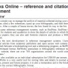 Refworks Online review_Online currents