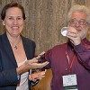 Heather Carine receiving Pam Wegmann award, AIIP Denver 2013